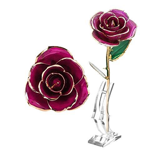 Shipenophy Rosa Real bañada en Oro de 24 Quilates Rosa chapada en Oro eterna de 24 Quilates, Regalo para San Valentín