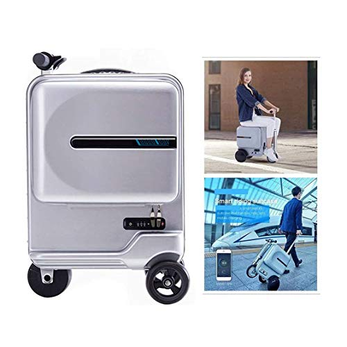 GOLDGOD Electric Luggage Scooter, Portable Smart Riding Scooter Suitcase Foldable Suitcase Electric Luggage with Removable Power Bank Battery for School Airport Business