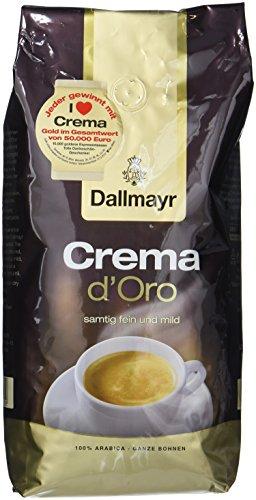 Dallmayr Crema d'oro mild und fein in Bohne, 1000 g Beutel