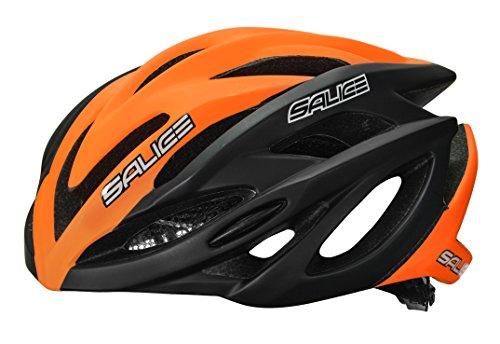 Salice Ghibli Casco de Ciclismo, Unisex Adulto, Negro/Naranja, 52-58 cm