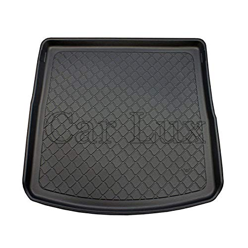 Car Lux – ar04148 Tapis de Protecteur de Coffre Premium avec Bord Haut pour Leon 3 St