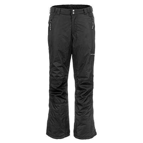 Lucky Bums Kids Ski Snow Pants, Reinforced Knees and Seat, Black, large