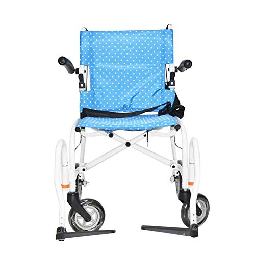 Yaeele a prueba de golpes Silla de rehabilitación médica, en silla de ruedas, silla de ruedas plegable ligero Suministros Médicos conducción médica for adultos, embarque Mochila 18 pulgadas pequeño si