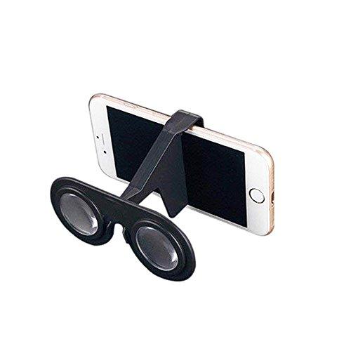 zycx123Mini Virtual Reality Brillen Zusammenklappbar 3D VR für Smartphone (weiß) 1Stück Schwarz Schwarz Schwarz