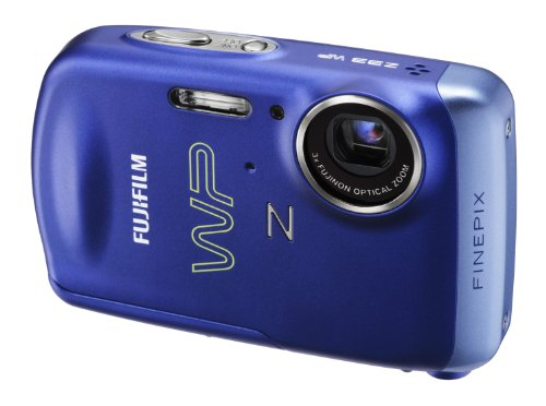 Fujifilm FinePix Z33WP Digitalkamera (10 Megapixel, 3fach opt. Zoom, 2.7'' Display, wasserdicht bis 3m) blau