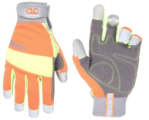 CLC Custom Leathercraft 128X Hivisibility Flex Grip Work Gloves, XL