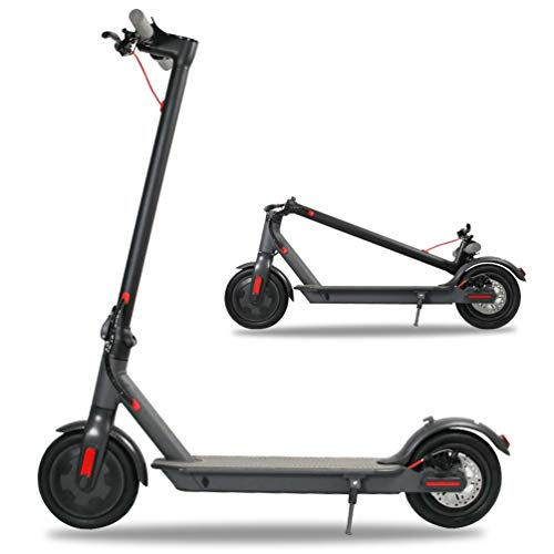 Emaxusa Electric Scooter for Adults,US Federal Agency Safety UL Certified,8.5' Tires 300W Motor Speed 15.8 MPH,Up to 16 Miles,Long Range Battery,Portable Folding Electric Scooters for Adults