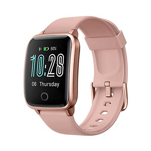 CHEREEKI Smartwatch, Reloj Inteligente Hombre Impermeable IP68 Pulsera Actividad Mujer, Reloj Hombre con Pulsómetro, Monitor de Sueño Reloj Deportivo para Xiaomi Huawei iPhone (Rosa)