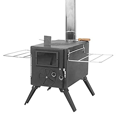 GBU Tent Stove - Portable Outdoor Camping Stove for Cooking Drinking Wood Stove with Pipe Fireproof
