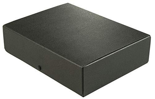 Elba Dokumenten-Box A4 aus Hartpappe, 8 cm Füllhöhe, schwarz
