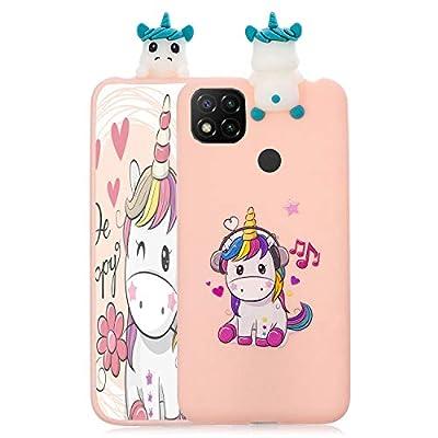 ChoosEU Compatible con Funda Xiaomi Redmi 9C Silicona 3D Dibujos Unicornio Carcasas TPU Case Antigolpes Bumper Cover Protección Caso Flexible Gel - Unicornio