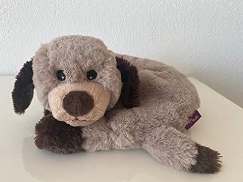 Habibi Plush Premium – 1634 Nackenhörnchen Hund, mit herausnehmbarem Körnerkissen - Wärmestofftier/Wärmekissen zum Erwärmen in der Mikrowelle/Backofen