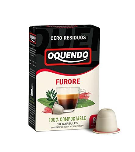Oquendo Furore 100% cápsulas de café compatibles con nespresso, 90 cápsulas
