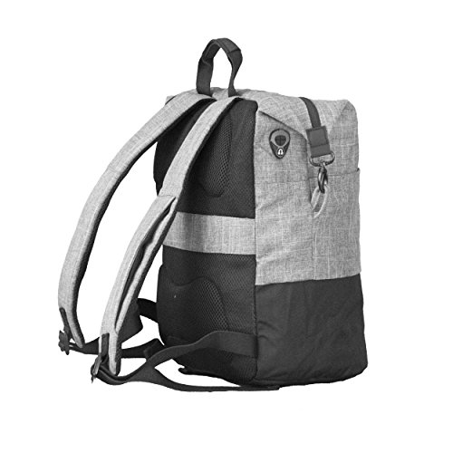 ONOTONE Laptop Backpack - Slim Grey & Black Computer Bag with rain Cover, Cable Hole, Smart Phone Pouch. Stylish and Comfortable Back Pack