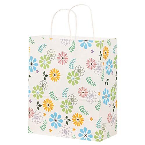 Gesh 24 bolsas de regalo bolsas de papel para la compra, bolsas de papel kraft al por menor, bolsas de fiesta, bolsas de regalo de papel marrón con asas a granel (S)
