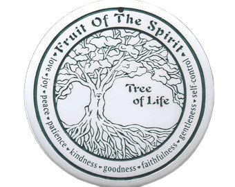 Bread Warming Stone, Handcrafted by Seneca Ceramics, Tree of Life (Green)