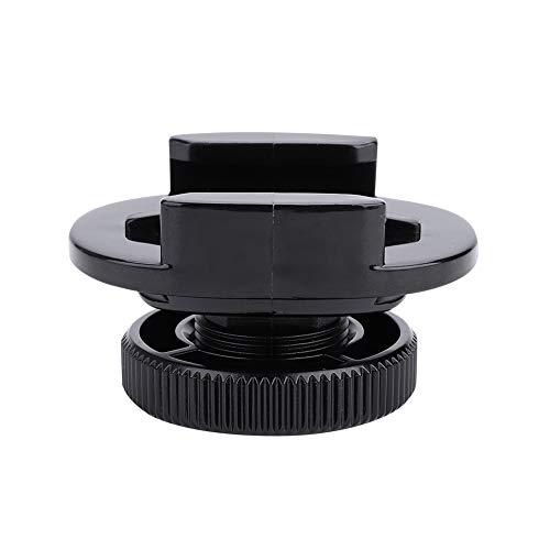 Base de adaptador de zapata fría, cámara DSLR giratoria de 360° Adaptador de base de transferencia de zapata fría Conecte la luz LED a prueba de agua, 1/4 puerto de tuerca, para GoPro/para SJAM
