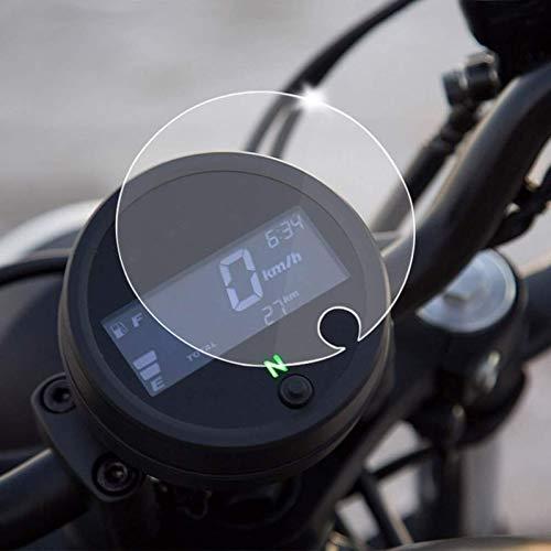 NO LOGO KF-Visor, Cluster Motocicleta Prueba Pantalla del rasguño de la película Instrumento Velocidad del velocímetro del Protector for el 2017 2018 Honda Rebel 500 CMX CMX500