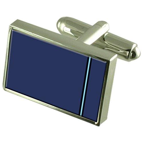 Select Gifts RAF Airforce Insignias de Rango Oficial piloto Gemelos Crystal Clip de Corbata Bar Box Set Grabado