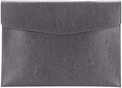 Enyuwlcm PU Leather A4 File Folder Document Holder Envelope Folder Case with Snap Closure for product image
