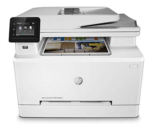 HP Color LaserJet Pro MFP M283fdn 7KW74A, Impresora Láser Color Multifunción, Imprime, Escanea, Copia y Fax, Ethernet, USB 2.0 alta velocidad, USB Host, HP Smart App, Pantalla Táctil en Color, Blanca