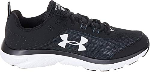 Under Armour Men's Charged Assert 8 Running Shoe, Black (001)/White, 15