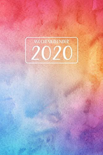Wochenkalender 2020: Wochenplaner 1 Woche pro Doppelseite mit Jahres- und Monatsübersicht   Tracking von Gewohnheiten   ca. Din A5   021 (German Edition)