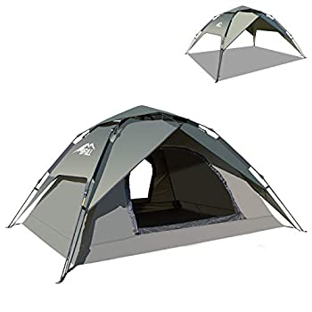 BFULL Camping Tent for 2 to 3 Persons,Instant Pop Up Tent Dome Waterproof Sun Shelters with Removable Rain Fly,Quick Setup for Family Camping Backpacking Hiking Outdoor