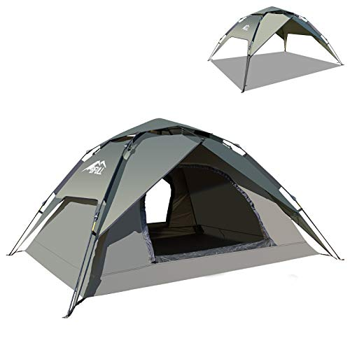 BFULL Instant Pop Up Family Camping Tent for 2-3 Persons, Dome Waterproof...