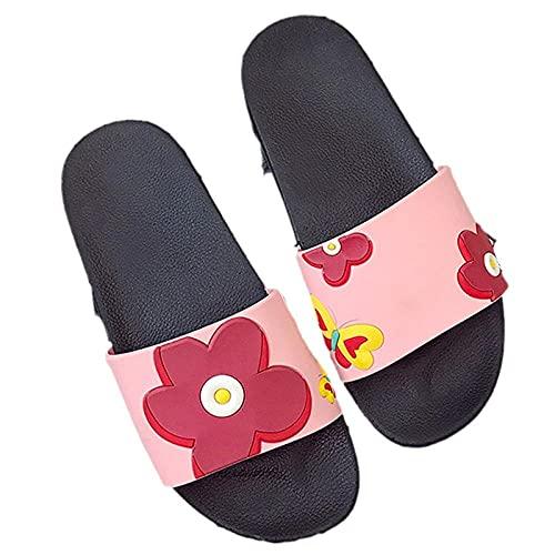Niedliche Cartoon Tier Frauen Hausschuhe Sommer Badezimmer Damen Folien Rutschfeste Indoor Paare Schuhe Flip Flops-A_38