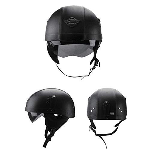 QXFJ Jethelm Helm Jethelm Motorradhelm Roller-Helm Verstecktes Endoskop Leicht Atmungsaktiv Abnehmbar WaschbäR Futter Tragbarer Helm Unisex