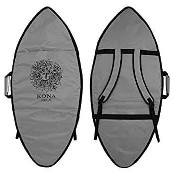 KONA SURF CO Original Sun Skimboard Quality Shortboard and Longboard Board Bag Cover in Grey sz 59in