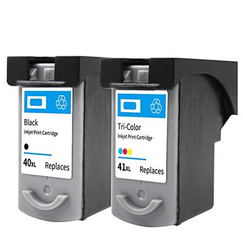 Cartucce d'inchiostro PG40 CL41 di ricambio per stampanti a getto d'inchiostro Canon IP1180, IP1200, 1600, IP1880, ad alta capacità, colore nero e colore