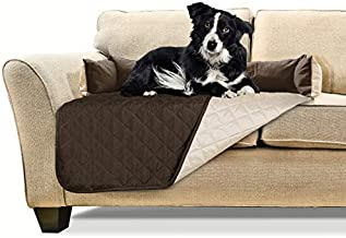 Furhaven Pet Furniture Cover - Sofa Buddy Two-Tone Reversible Water-Resistant Living Room Furniture Cover Protector Pet Bed for Dogs and Cats, Espresso/Clay, Medium