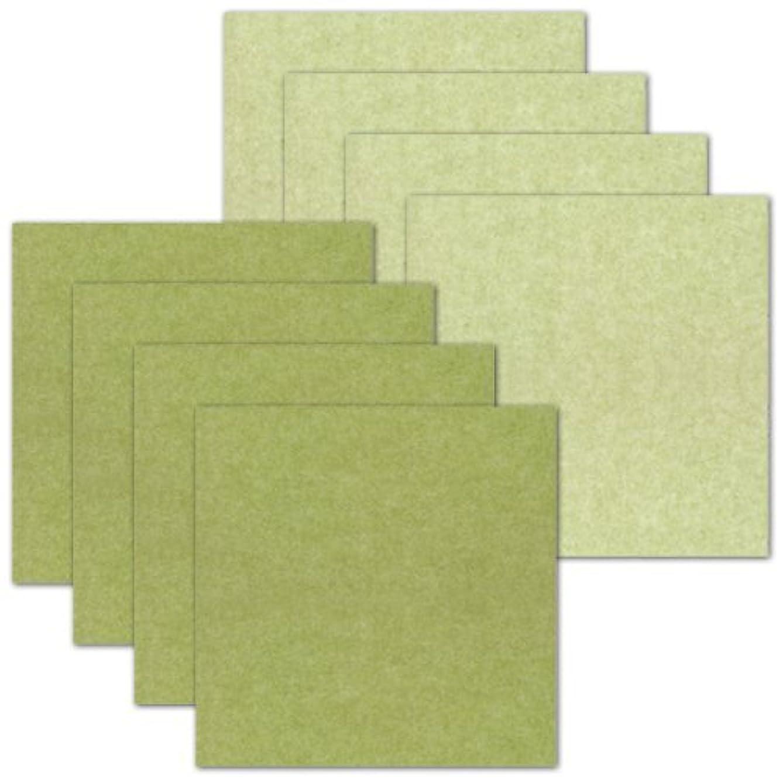 作家アラーム自動おくだけ吸着 はっ水タイルマット 30×30cm 32枚セット(8枚入×4) グリーン×ライトグリーン