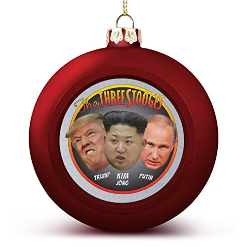 VNFDAS The Three Stooges Trump Kim Jong Putin Custom Christmas ball ornaments Beautifully decorated Christmas ball gadgets Perfect hanging ball for holiday wedding party decoration