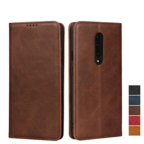 "SailorTech Oneplus 7 Pro Wallet Case, Oneplus 7 Pro 2019 Premium PU Leather Wallet Flip Cover with Card Slots & Kickstand Shockproof Wallet Cover for OnePlus 1+ 7 Pro Leather Case (6.67"")-Dark Brown"