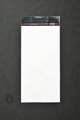 印刷透明封筒 長3 【500枚】 OPP 50μ(0.05mm) 表:白ベタ 切手/筆記可能 静電気防止処理カットテープ付き 折線付き 横120×縦235+フタ30mm印刷可