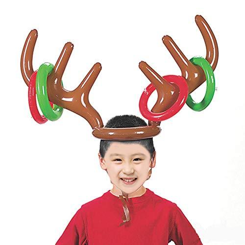 gaeruite Weihnachten aufblasbare Rentiergeweih Ring Toss Spiel für Weihnachtsfeier