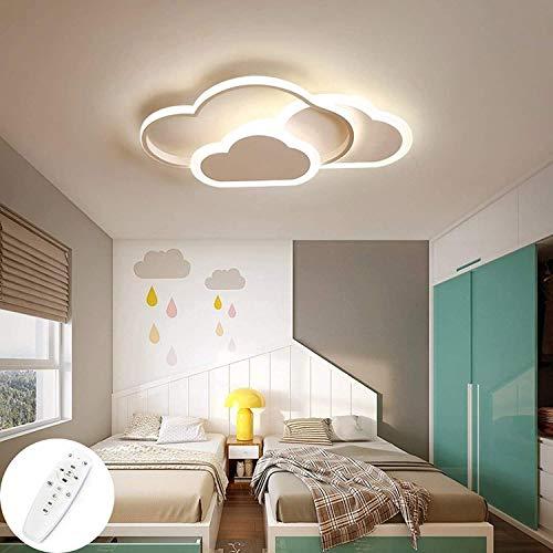 Kinderzimmer Beleuchtung Creative Cloud Deckenleuchte Mit Fernbedienung Dimmbare 6 cm Ultradünne Weiße Decken Kinderzimmer Lampe 52cm 42W LED Deckenleuchte for Schlafzimmer Wohnzimmer Dekoration