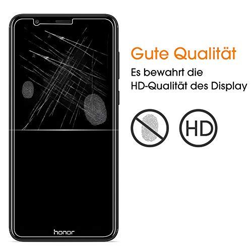 Vkaiy [2 Stück Panzerglas Schutzfolie kompatibel mit Huawei Honor 7X, 9H Härte, Anti-Kratzen, Anti-Öl, Anti-Bläschen Displayschutzfolie für Huawei Honor 7X - 6
