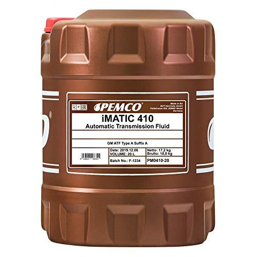 Pemco iMatic 410 ATF-A/Servolenkung Hydrauliköl Getriebeöl Rot, 20 Liter