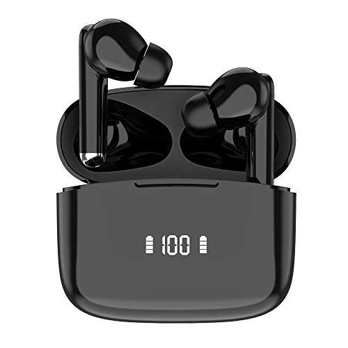 Auricolari Bluetooth 5.0 Cuffie Wireless In Ear con Mic-Incorporato, Livello 7 Impermeabile Auricolare Senza Fili Sportivi, Cancellazione Intelligente del Rumore, Tocca Controllo, per iOS & Android