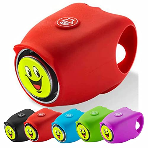 MOFOPAKOO Electric Bike Bells 120 dB 6 Sound Modes Bike Horns Loud Bicycle Bells for Adults Kids Waterproof Electric Cycling Bells
