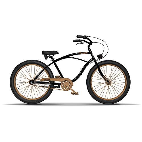 Herren Fahrrad 26 Zoll Cruiser Bike Herrenfahrrad Citybike Vintage Retro American Cruiser Herren Fahrrad Fur Manner Aluminium Rahmen