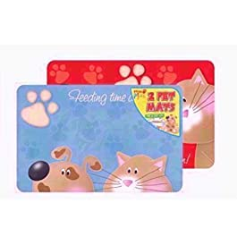 JMS we create smile Pet Dog Or Cat Feeding Placemats Mats 2 Different Designs 43.5 x 28 cm approx