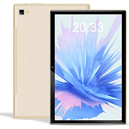 Tablet de 10 pulgadas Android 10.0 con 5G WiFi, Octa Core 1.6 GHz Tablet PC 6 GB RAM 64 GB/128 GB ROM ampliables, Bluetooth, Dual Cámara, batería 6000 mAh, Type-C (gray)
