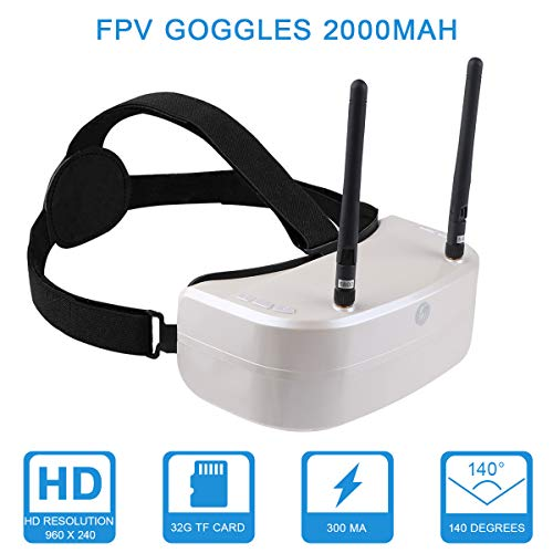 Hankermall SJ RG01 FPV Goggles 5.8G 48CH DVR FPV Headset Dual-Displays Diversity FPV Video Goggles