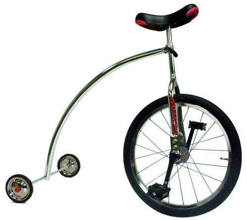 Ross Rand Unicycle with Training Wheels (Chrome)