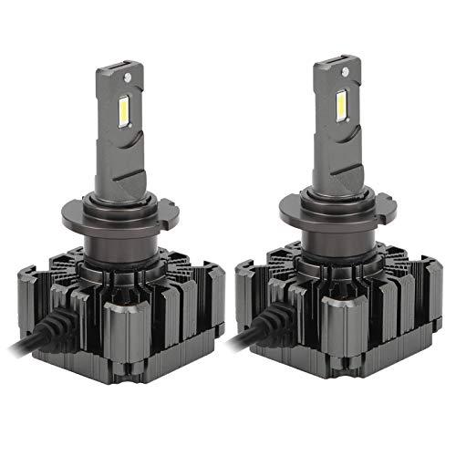 Bombillas de luz de coche-2 piezas Bombilla de faro LED D2/D4 6000K 35W IP68 Alto brillo a prueba de agua con luz blanca